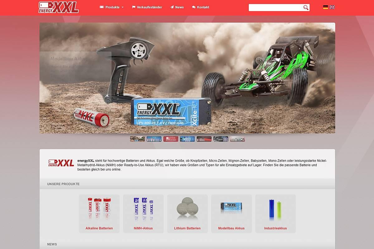 EnergyXXL Webseite