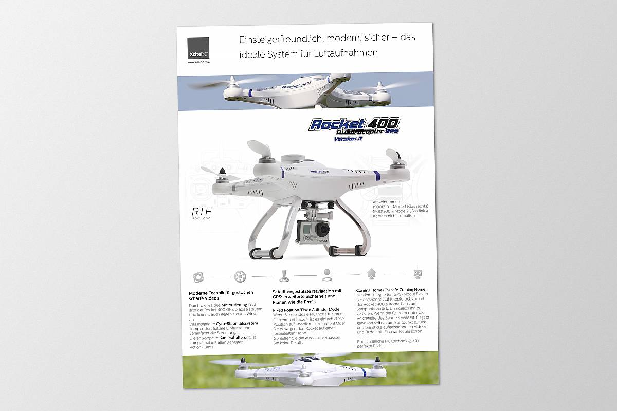 Quadrocopter Flyer Design