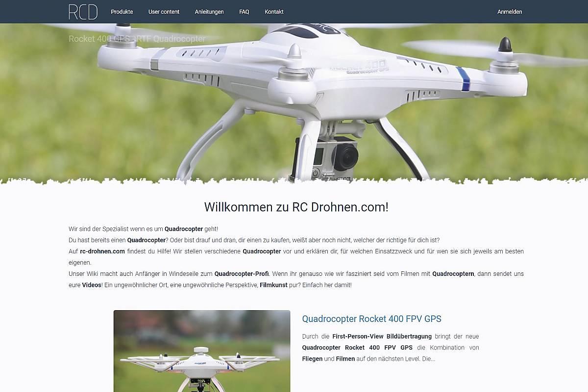 RC Drohnen Webseite